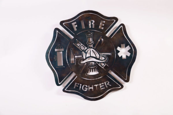 Fire Fighter Shield Metal Creation