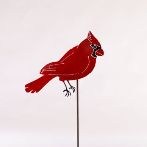 Red Cardinal Stake Metal Creation