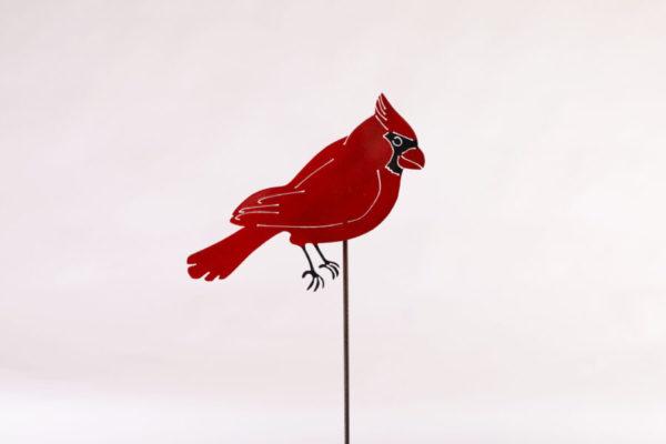 Red Cardinal Stake Metal Creation