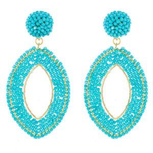 Turquoise Bead Earring