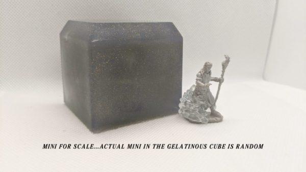 Large Gelatinous Cube Soap – Adventurer Mini trapped inside