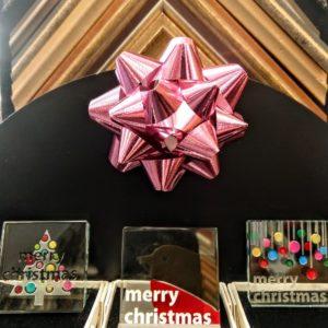 """""""Merry Christmas"""" Glass Tiles"""