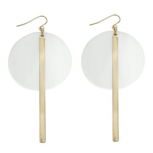 Clear Circle Acrylic Gold Hoop Earring