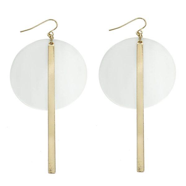 Clear Circle Acrylic Gold Earring