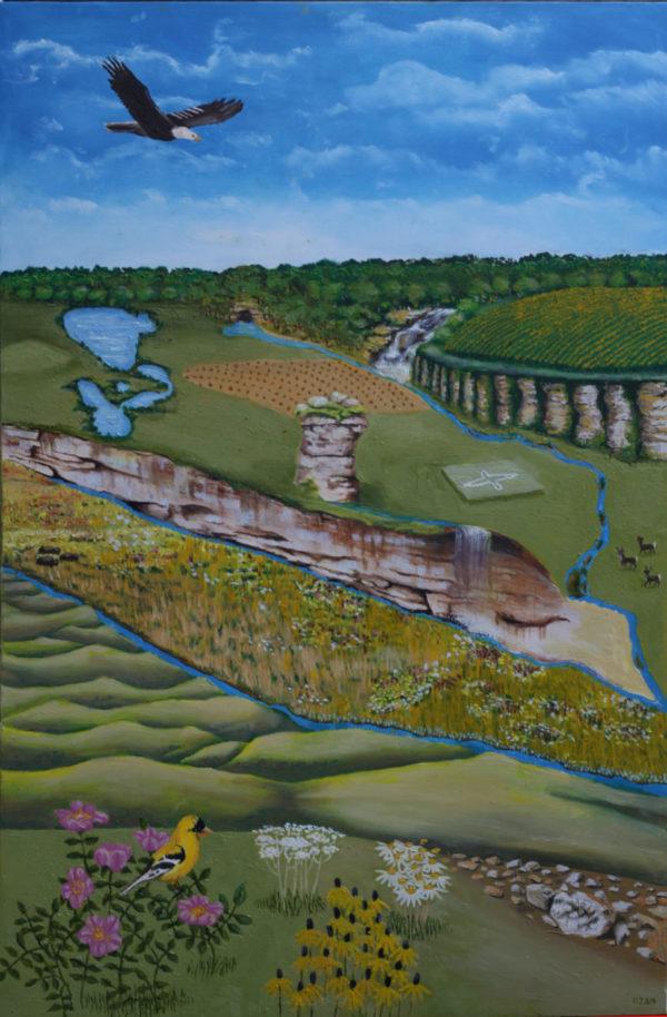 """This is Iowa"" Print of Original Oil Painting"