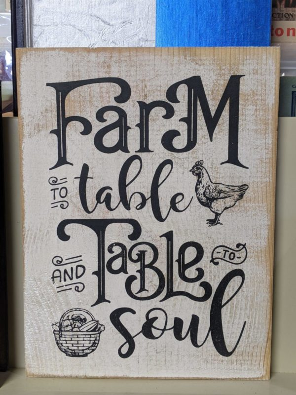 Wooden Farm to Table Sign