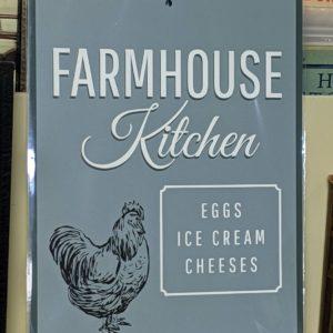 Farmhouse Kitchen Tin Sign