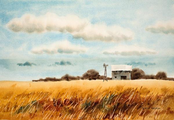"""""""Golden Fields"""" Giclee Art Print"""