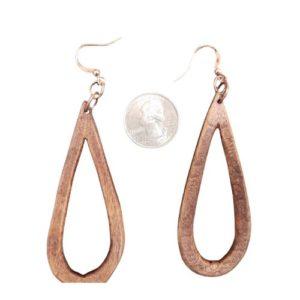 Tear Drop Wooden Earrings #3