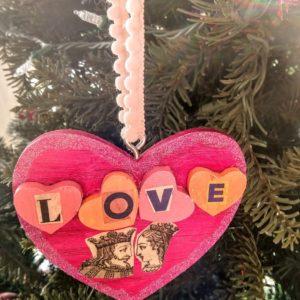 "Handmade ""Love"" Ornament"