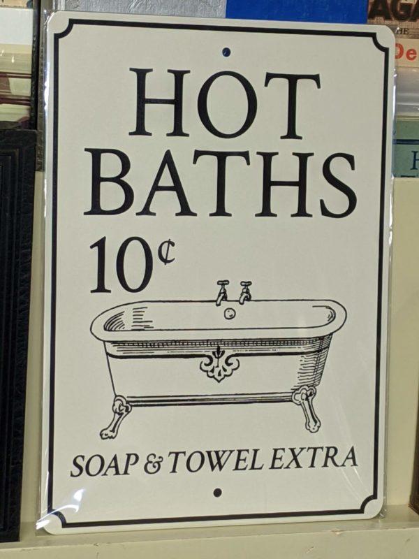 Hot Baths Tin Sign