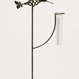 Metal Hummingbird Rain Gauge