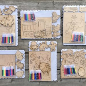 Wooden Children Color Kits