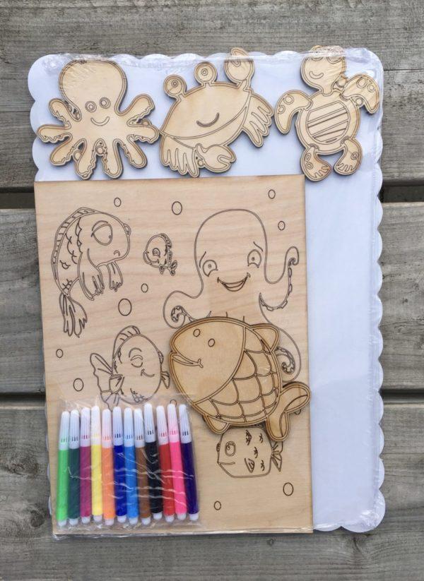 Wooden Children Color Kits