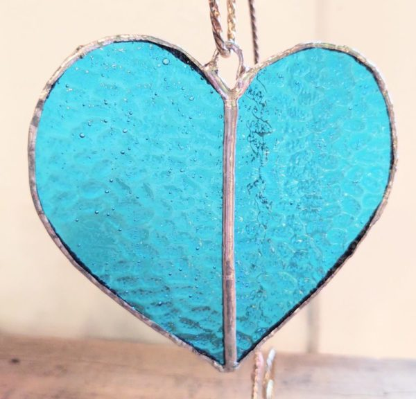 Stained Glass Heart – Aqua