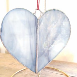 Stained Glass Heart – Denim blue