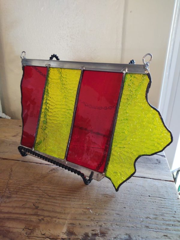 Stained Glass 'Iowa' – Red & Yellow