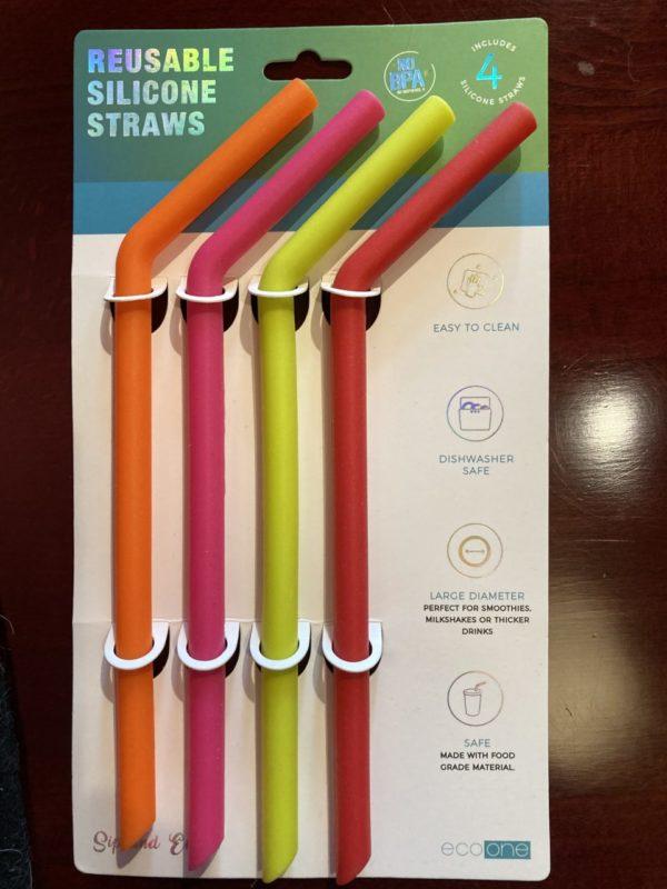 Reusable Silicon Large Straws (set of 4)