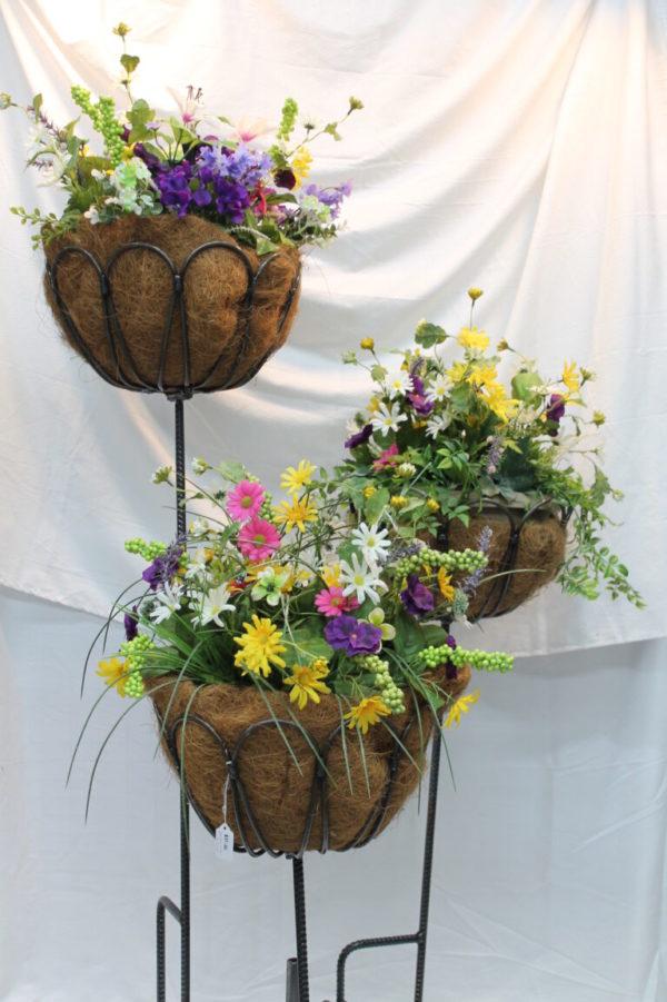 Ten Petal Flower Stakes Metal Creation