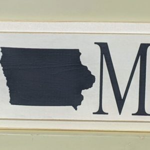 Wooden Iowa Home Sign