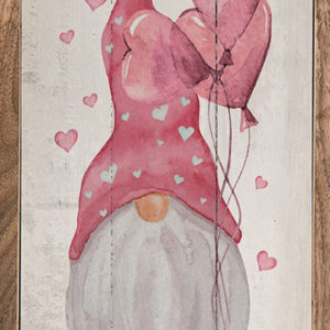 photo of Water color Heart Gnome - Kendrick Home Wood Sign, Shop Iowa