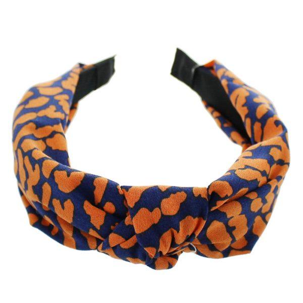 Navy Orange Headband