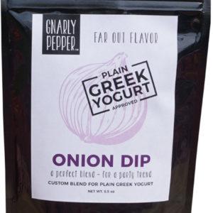 Gnarly Pepper Onion Dip blend paired with plain Greek yogurt, cedar rapids, iowa, sioux city, mix, seasoning, vegan