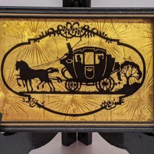 Vtg. Art Pub Co. framed Silhouette – Horse & Carriage