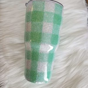 photo of Mint Green and White Plaid Tumbler, Wonderfully Made Gifts, Shop Iowa