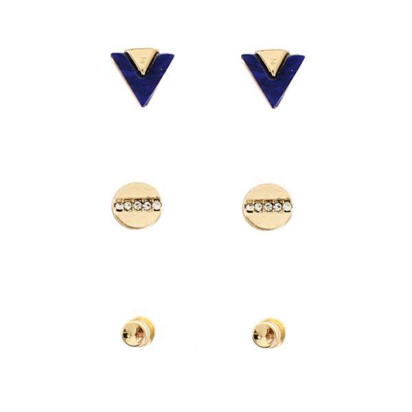 Navy Dainty Earrings