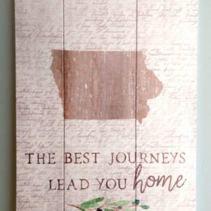 """The Best Journeys Lead You Home"" Shiplap Sign"