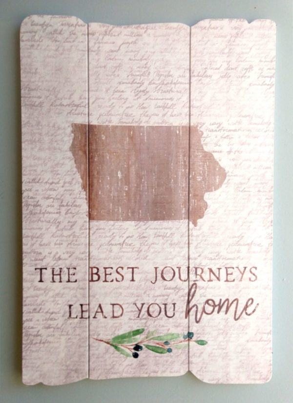 """""""The Best Journeys Lead You Home"""" Shiplap Sign"""