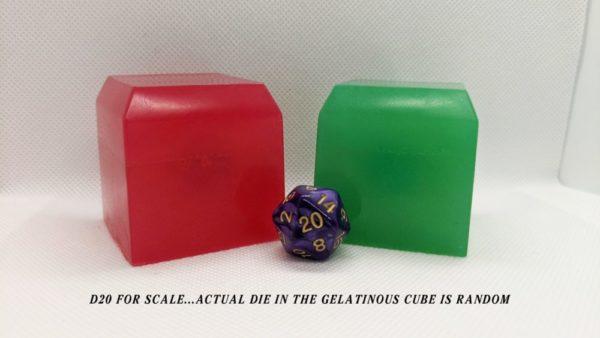 Gelatinous Cube Soap w/ d20 inside