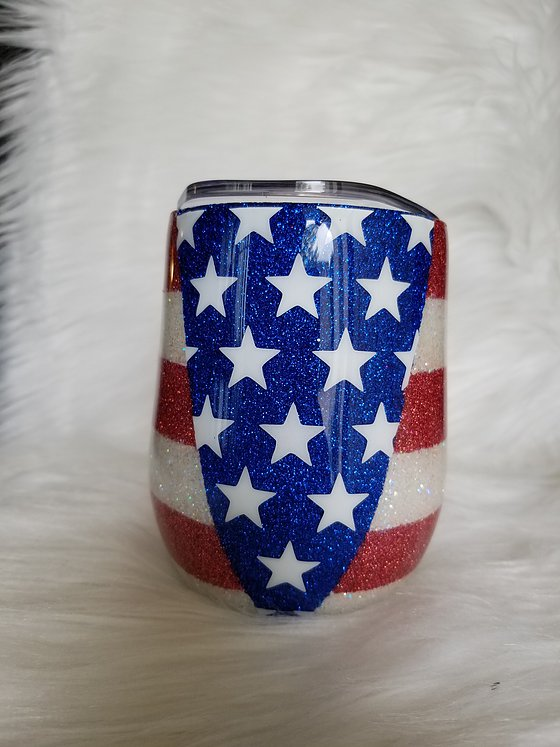 Patriotic Wine Tumbler