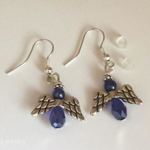 Angel Dangle Earrings – Sapphire Blue