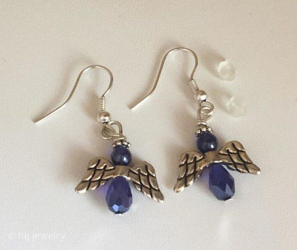 Angel Dangle Earrings – Sapphire Blue