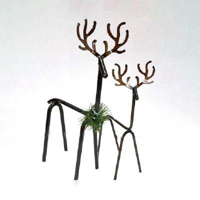 Decorative Iron Reindeer