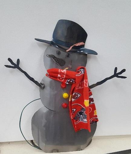 Iron Decorative Snowman