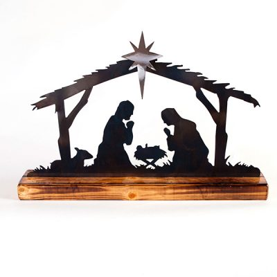 Wood & Metal Handcrafted Nativity