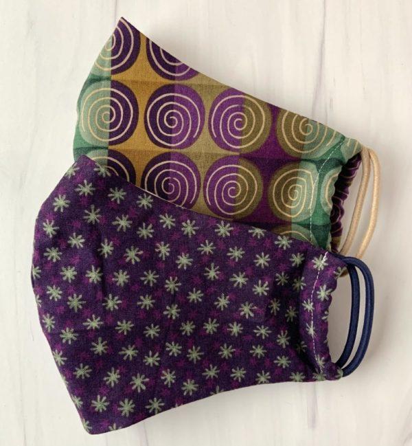 Designer Face Masks in Purple