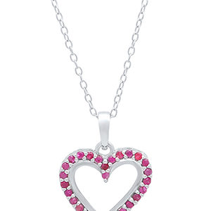 red ruby heart necklace