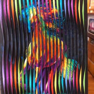 """Running Free"" Fabric Art by Don Dixson"