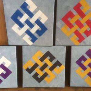 Fabric Eternity School Knots by Don Dixson