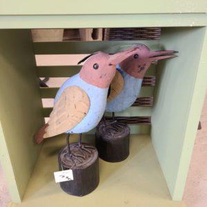 Seaside Birds Metal Decor