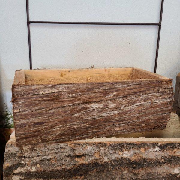 Wooden Log Planter