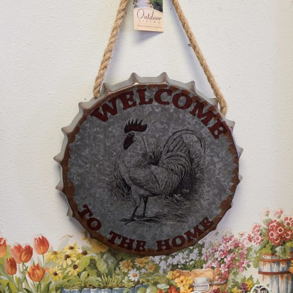 Rooster Tin Sign