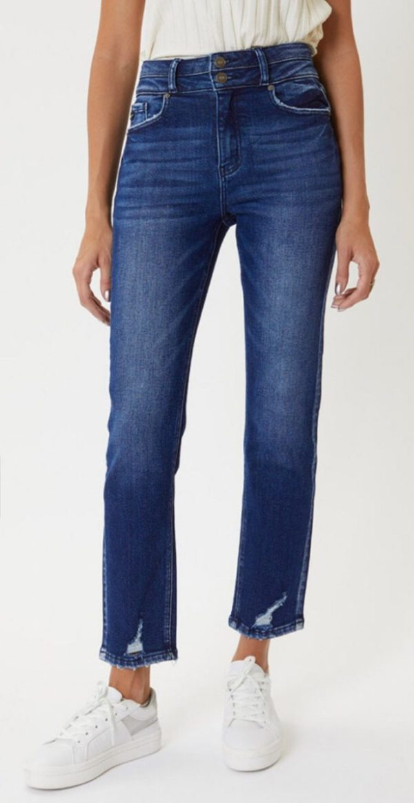 Ultra high rise straight jeans