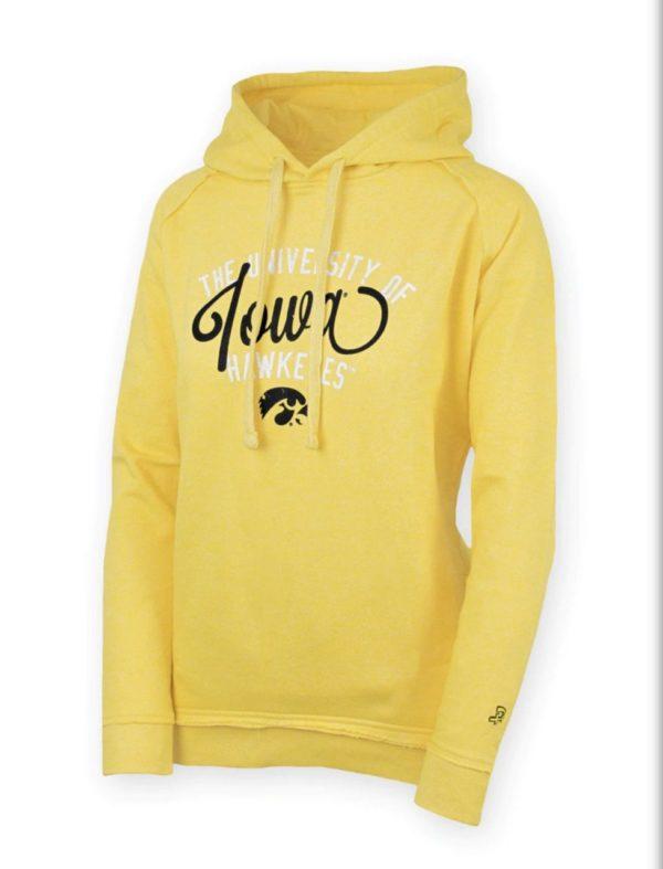Iowa Hawkeye hoodie yellow