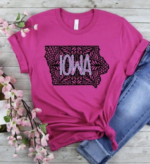 Iowa mandala – berry color