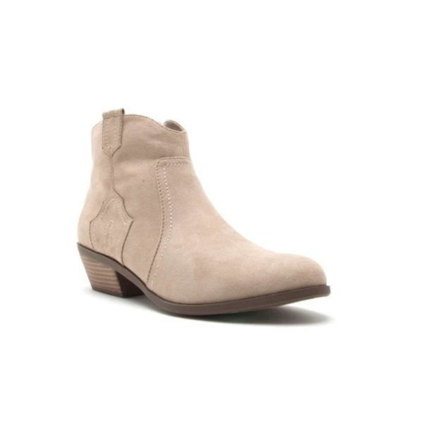 Taupe suede phedra bootie
